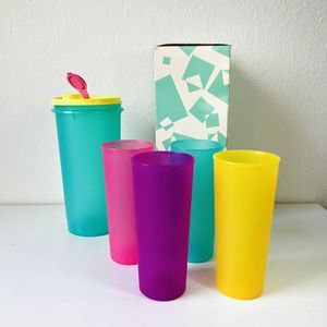 VTG Tupperware #563 Spring Pitcher & Tumblers Cups